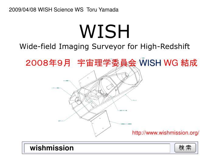 2009/04/08 WISH Science WS  Toru Yamada