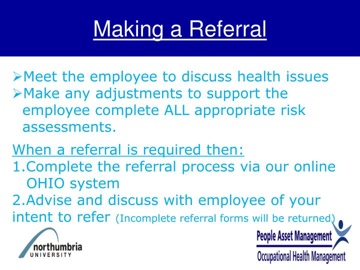 Making a Referral