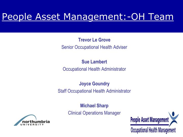 People asset management oh team