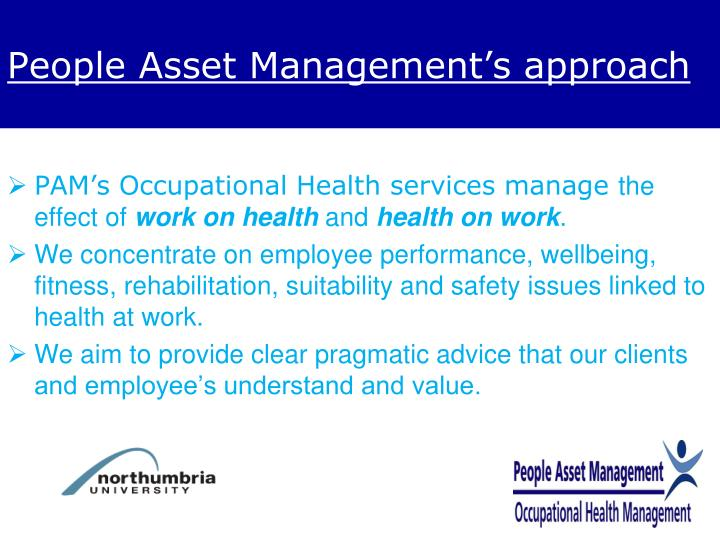 People Asset Management's approach