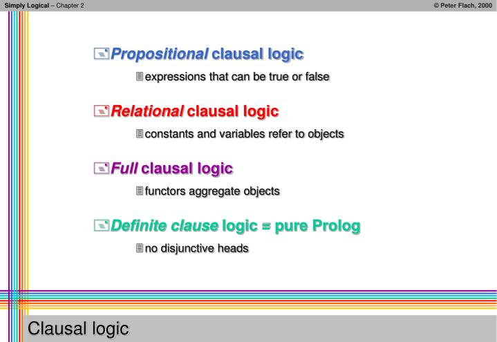 Clausal logic