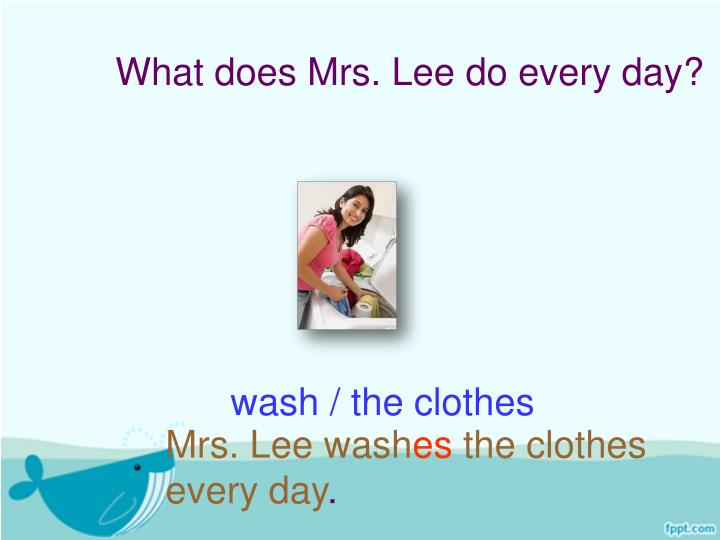 What does Mrs. Lee do every day?