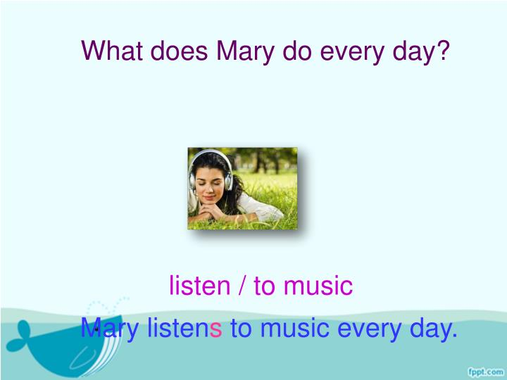 What does Mary do every day?
