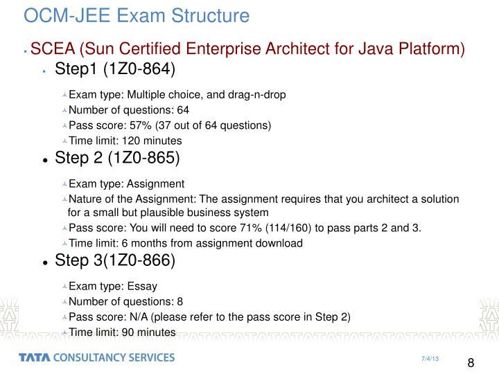 OCM-JEE Exam Structure