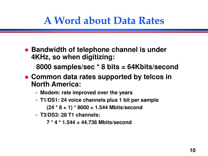 A Word about Data Rates
