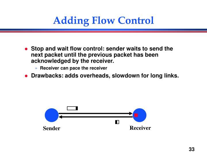 Adding Flow Control