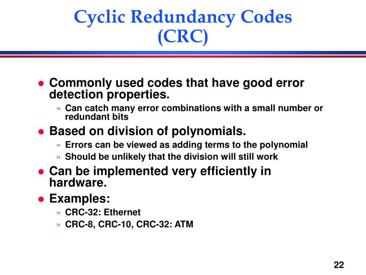 Cyclic Redundancy Codes