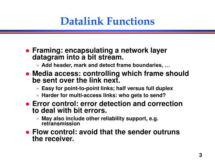 Datalink Functions