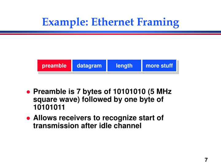 Example: Ethernet Framing