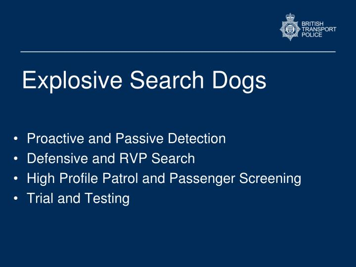 Explosive Search Dogs