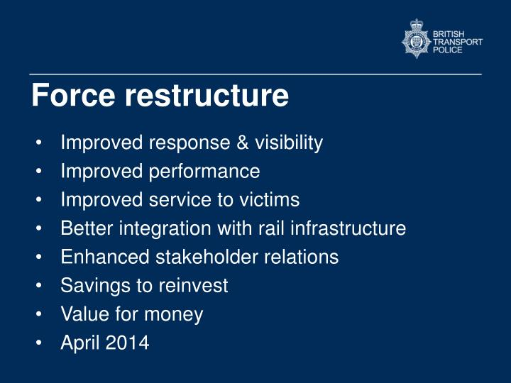 Force restructure