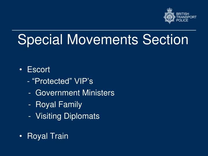 Special Movements Section