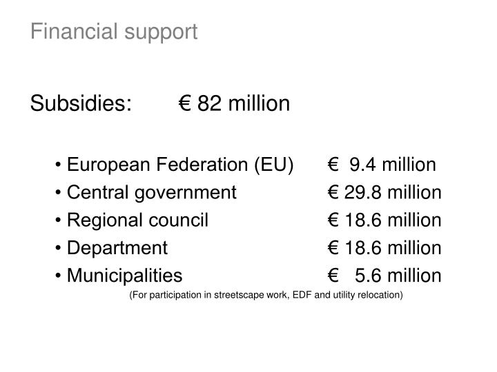 Subsidies:€ 82 million