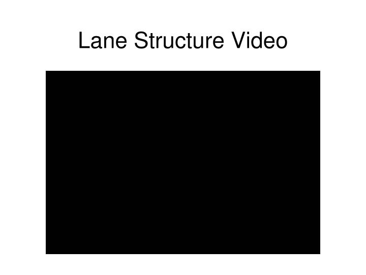 Lane Structure Video