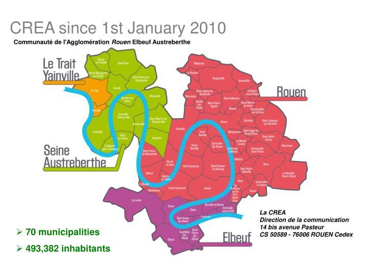 CREA since 1st January 2010