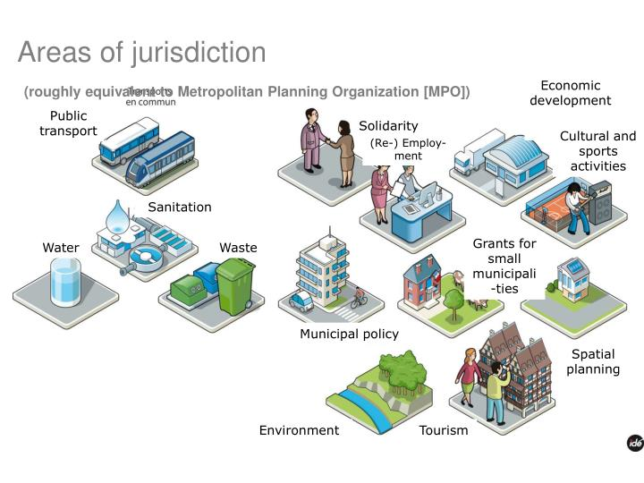 Areas of jurisdiction