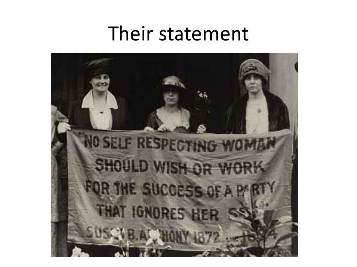 Their statement