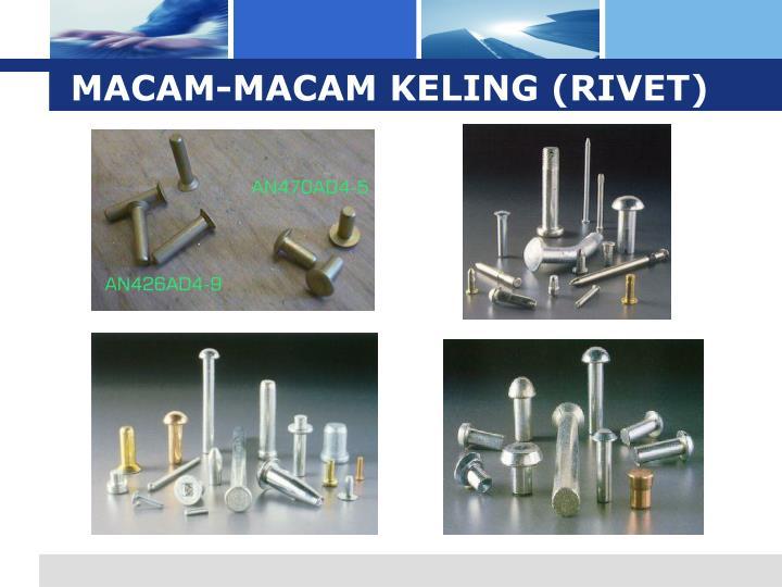 MACAM-MACAM KELING (RIVET)