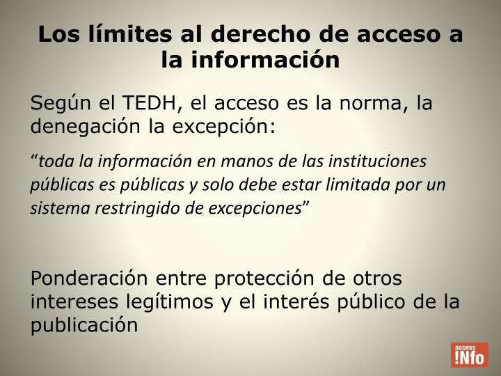 Los límites al derecho de acceso a la información