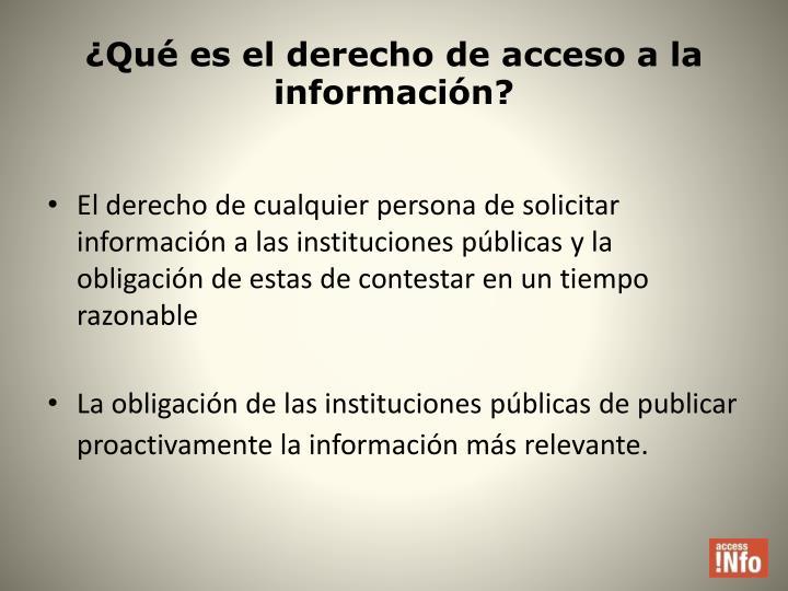¿Qué es el derecho de acceso a la información?