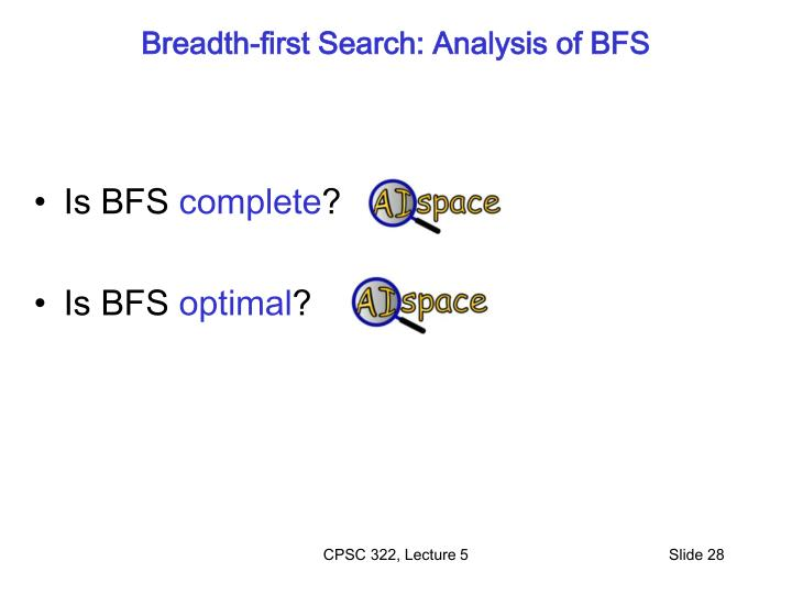 Breadth-first Search: Analysis of BFS