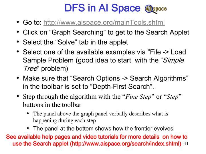 DFS in AI Space