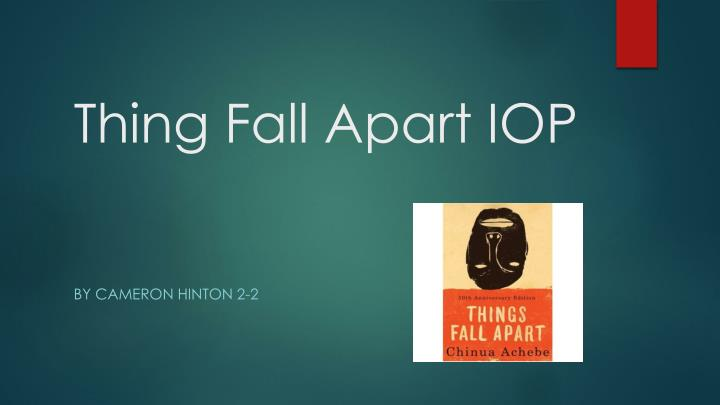 things fall apart essay conclusion In the story things fall apart, achebe has given his main character a name with a hidden meaning, okonkwo implying male pride and stubbornness achebe devotes.
