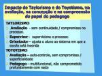 impacto do taylorismo e do toyotismo na avalia o na concep o e na compreens o do papel do pedagogo