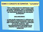 sobre o conceito de somativa cumulativa