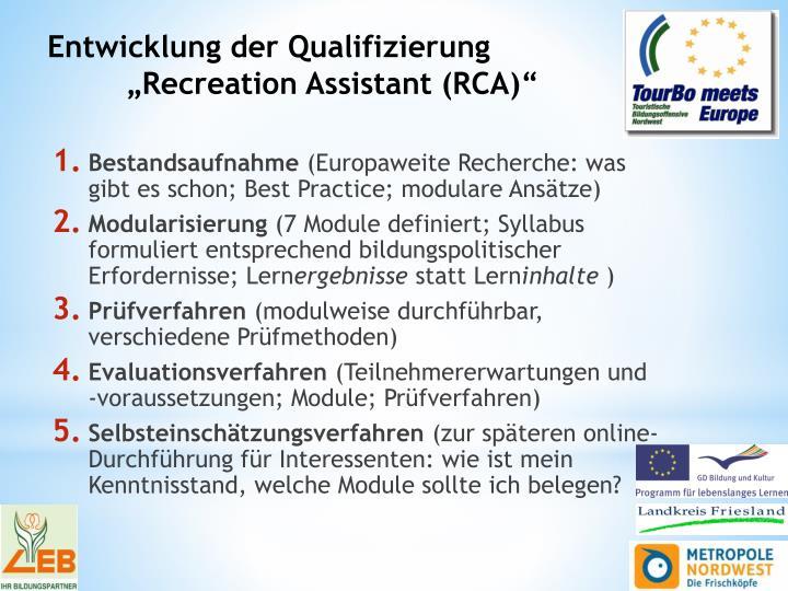 Entwicklung der Qualifizierung