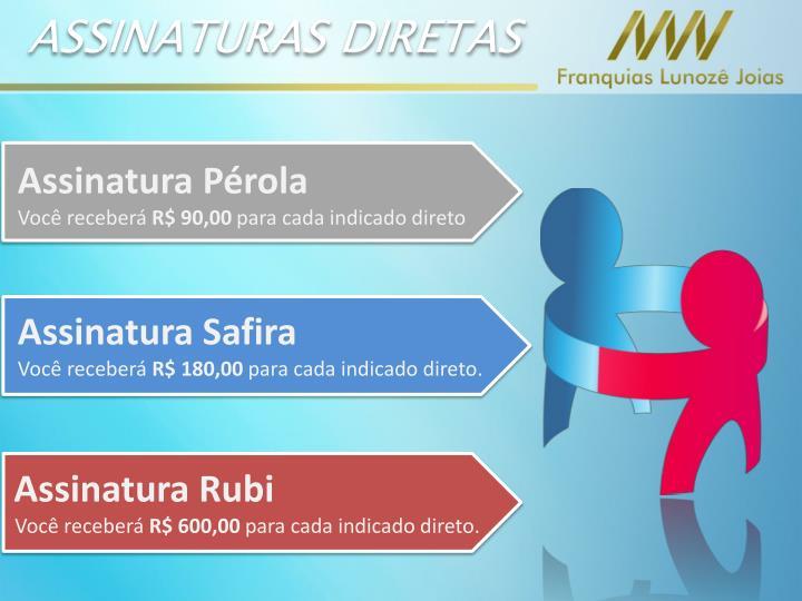 ASSINATURAS DIRETAS