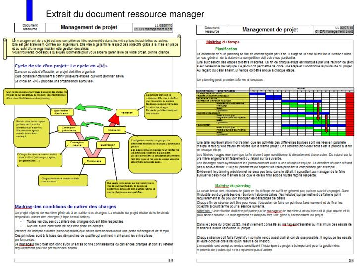 Extrait du document ressource manager