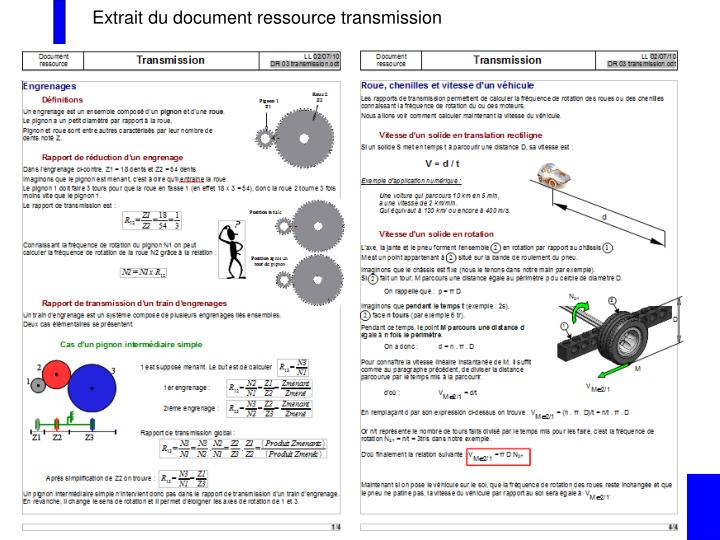 Extrait du document ressource transmission