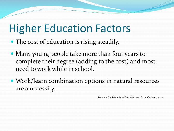 Higher Education Factors