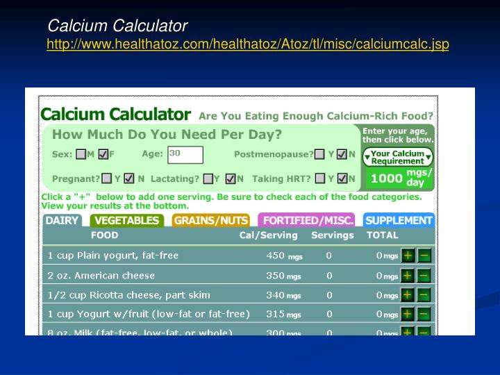 Calcium Calculator