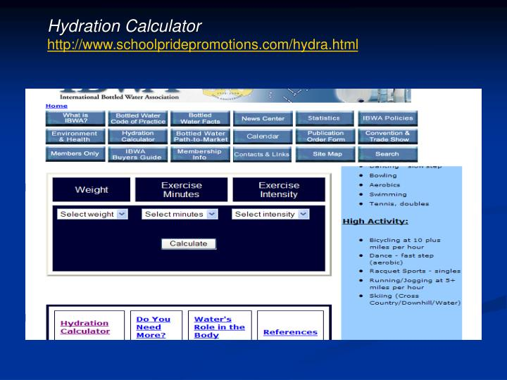 Hydration Calculator