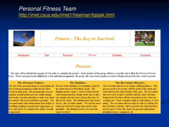 Personal Fitness Team