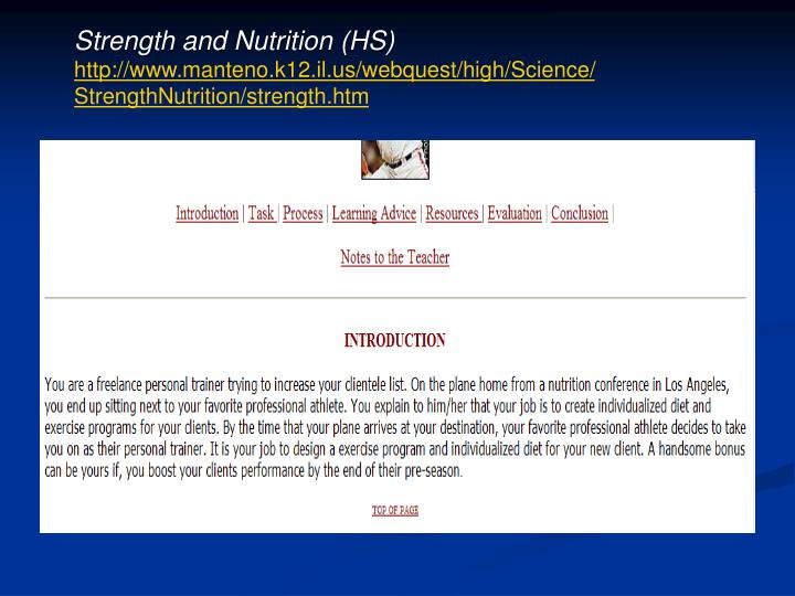 Strength and Nutrition (HS)