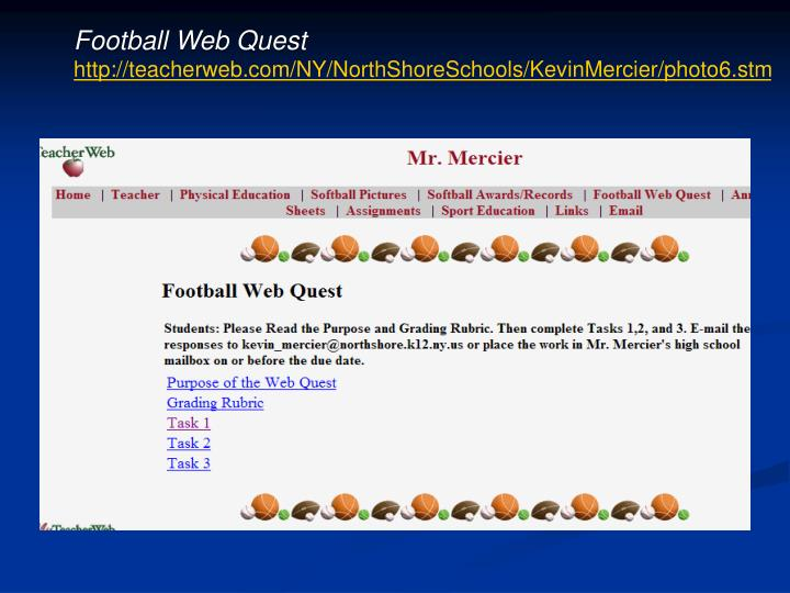 Football Web Quest