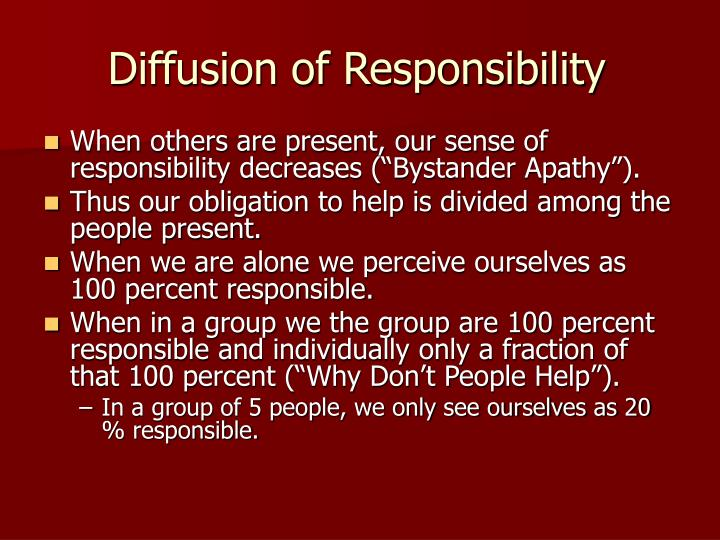 bystander intervention in emergencies diffusion of responsibility