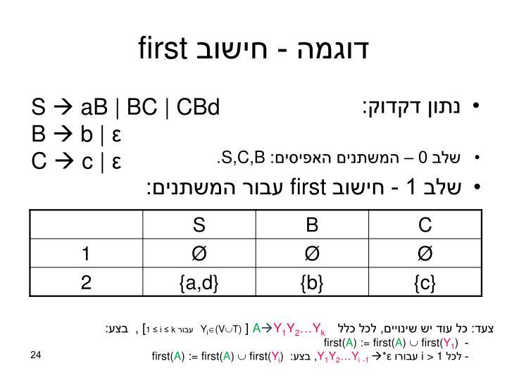 דוגמה - חישוב
