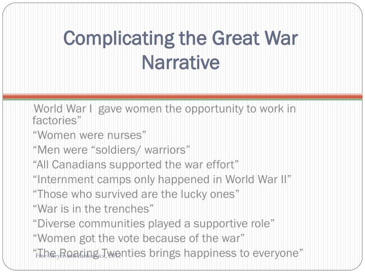 Complicating the Great War Narrative