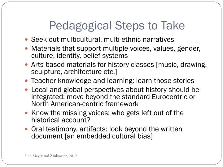 Pedagogical Steps to Take