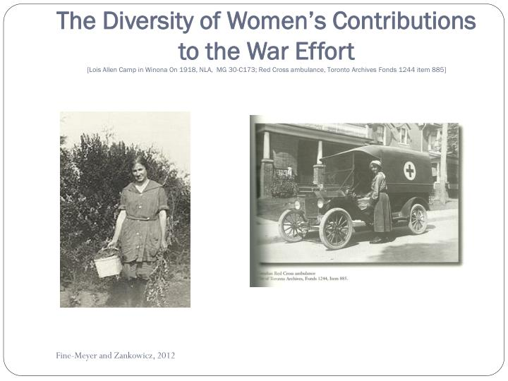 The Diversity of Women's Contributions to the War Effort