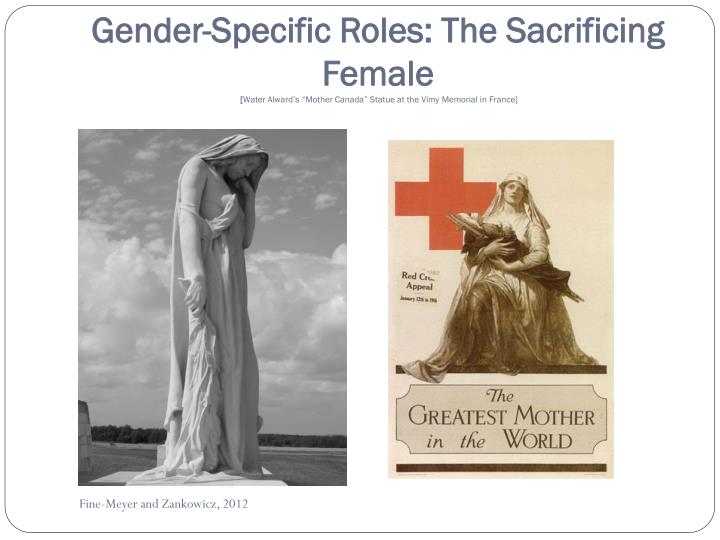 Gender-Specific Roles: The Sacrificing Female
