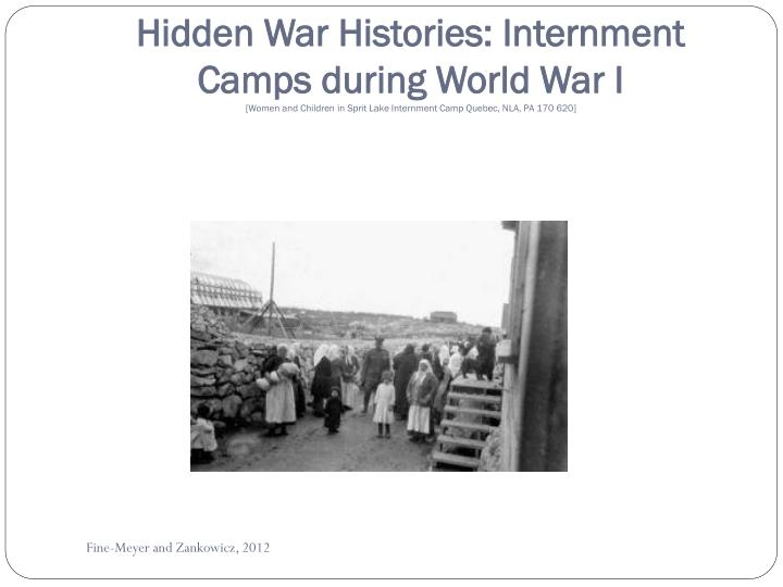 Hidden War Histories: Internment Camps during World War I