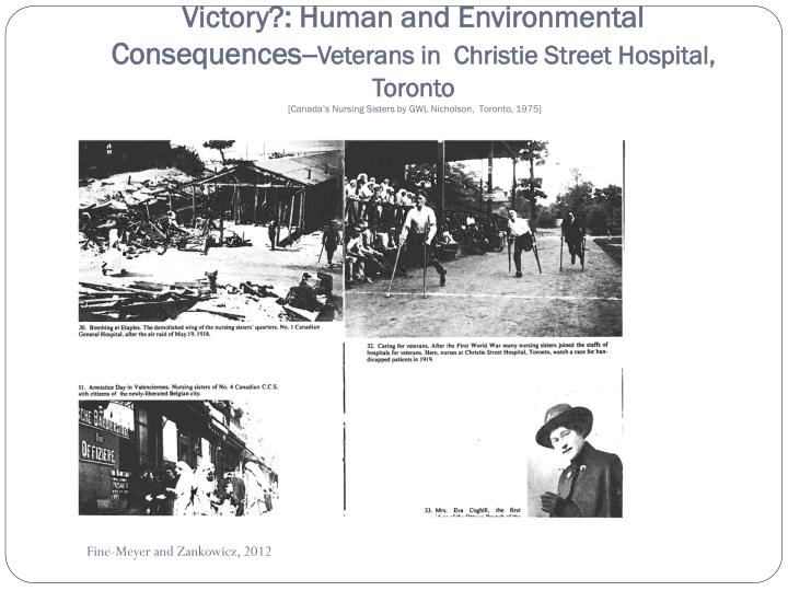 Victory?: Human and Environmental Consequences--