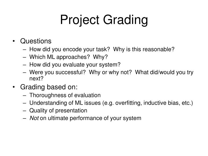 Project Grading