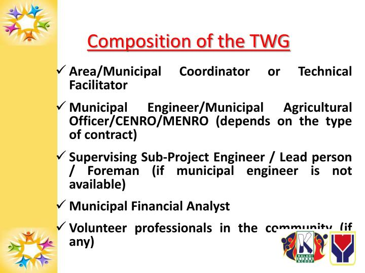 Composition of the TWG
