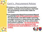 cont n procurement policies